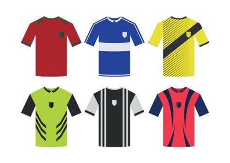 free design uniform soccer uniform shirts vector free download