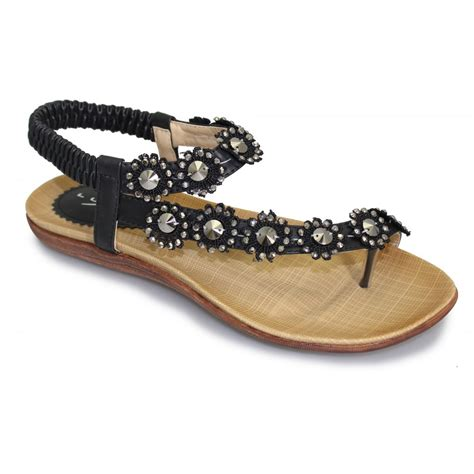 toe loop sandals lunar womens black sandals buy at marshall shoes