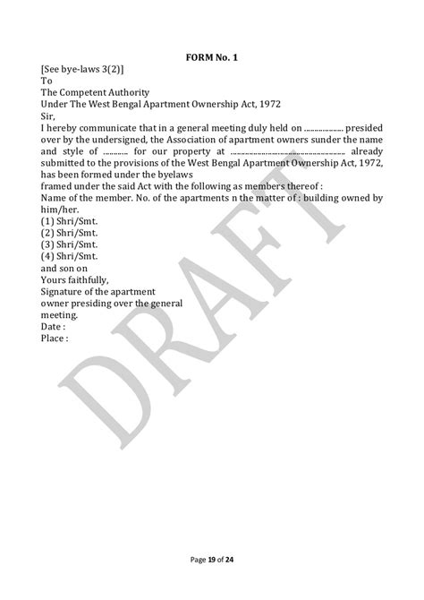 Society Draft Letter Of Draft Copy Of Bye Laws Kamal Residency 10th March12