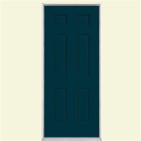 No Panel Door by 6 Panel Painted Steel Entry Door With No Brickmold