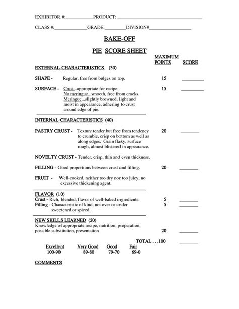 Bake Off Judging Sheet Template Invitation Templates Designsearch Results For Bake Off Quiz Competition Score Sheet Template