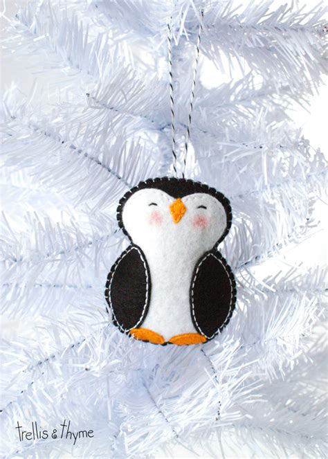 pdf pattern little penguin winter felt ornament pattern