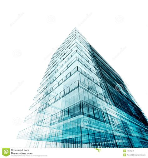 Free House Blueprints And Plans tall building stock illustration image of perspective