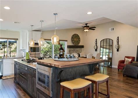kitchen block island 37 gorgeous kitchen islands with breakfast bars pictures