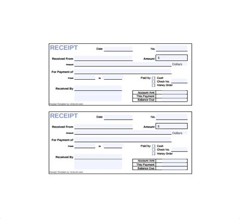 20 printable cash receipt templates pdf word free