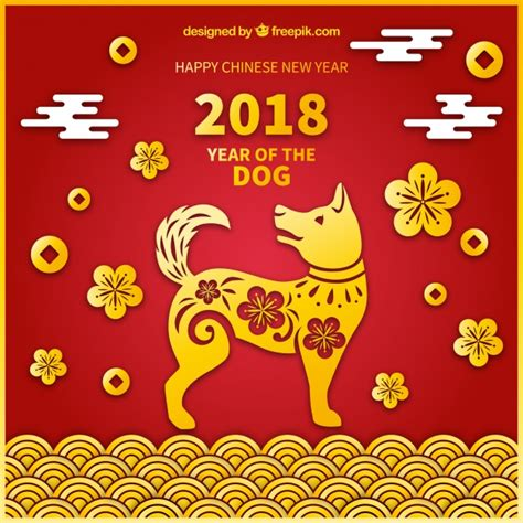 chinese  year background  yellow dog  vector