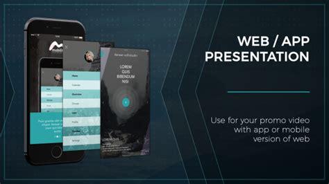 Web App Presentation Phone Mobile After Effects Templates F5 Design Com After Effects App Template