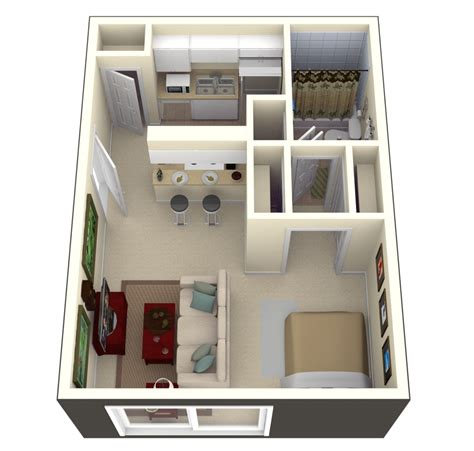 Studio Apartments In South Ta In Ta Fl S Bay Oaks 400 Square Of Living Space