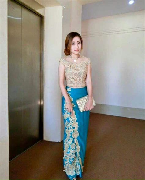 Kebaya Anabel Pink 26 best images about myanmar dress on dress