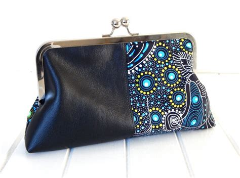 Faux Leather Print Clutch cool clutch with faux leather and print by boonlell bags
