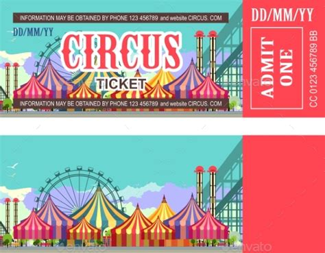 theme park tickets ticket amusement park by marrishuannna graphicriver