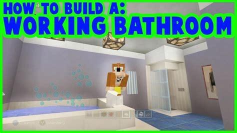 Minecraft Modern Bathroom by Minecraft How To Make A Working Bathroom