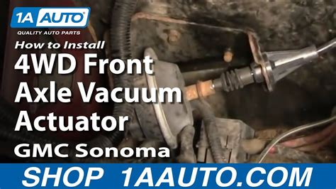 install replace wd front axle vacuum actuator gmc