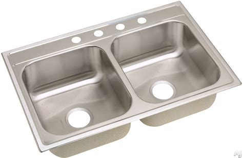 stainless steel sink undercoating elkay dpc23322 33 quot drop in stainless steel double bowl