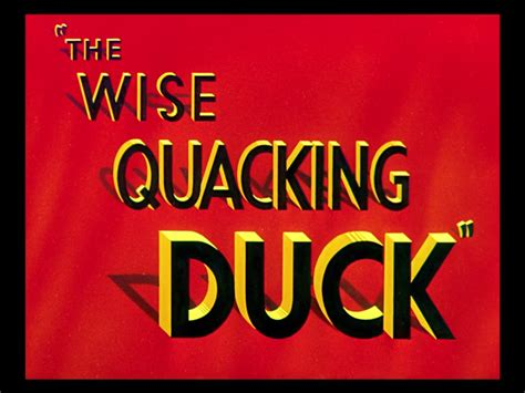 looney tunes title card template the wise quacking duck