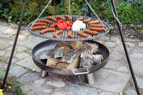 feuerschale zum grillen schwenkgrill mit feuerschale 216 80cm kaufen bei finnwerk