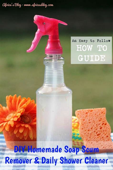 Shower Cleaner Recipe by Diy Soap Scum Remover Daily Shower Cleaner