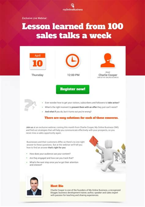 Webinar Invite Pages By Getresponse Webinar Announcement Template
