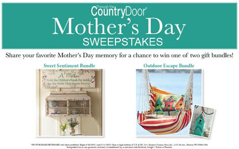 Countrydoor Com Sweepstakes - mother s day sweepstakes