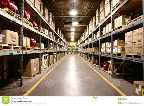 factory warehouse wide angle view stock image image 2669191