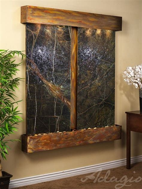 indoor wall water features aspen falls marble wall water