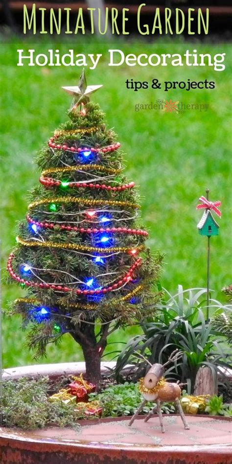 how to decorate an outside christmas tree a merry with these diy miniature tree decorations
