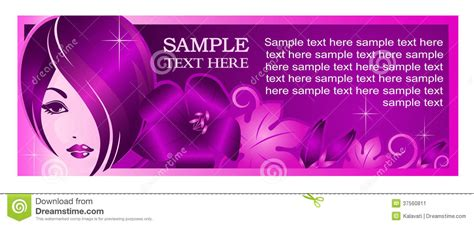 banner template for beauty salon or other services stock