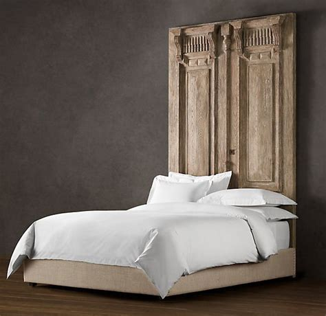Using A Door For A Headboard by Carved Door Headboard