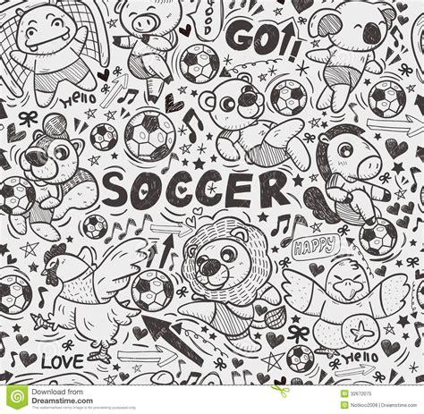 seamless animal pattern vector seamless animal soccer player pattern royalty free stock