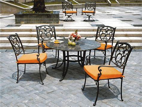 Metal Outdoor Furniture by Wrought Iron Garden Furniture Landscaping Gardening Ideas