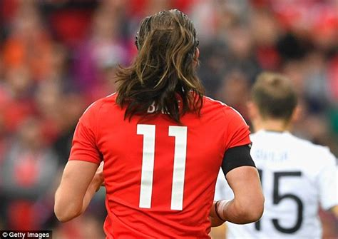 gareth bale long hair gareth bale shows off his lengthy locks as wales draw
