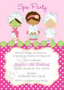 spa invitation diy print your own matching by jcbabycakes
