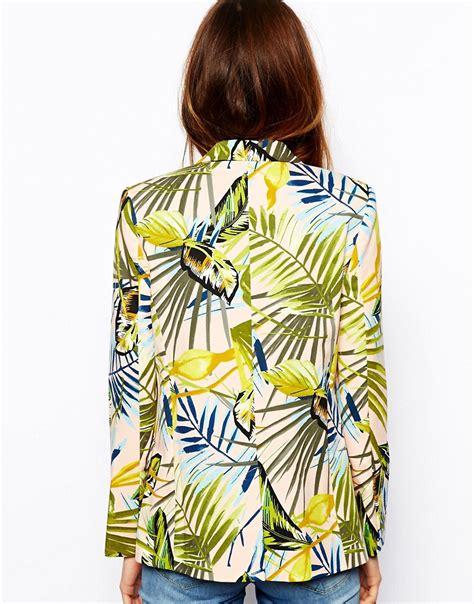 printable asos vouchers asos asos blazer in tropical print at asos