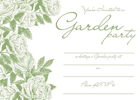garden invitation template garden invitations templates free images