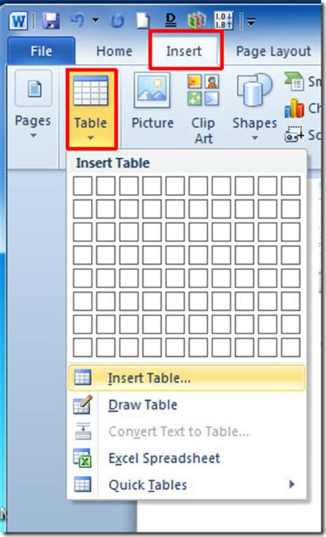 how to insert insert excel spreadsheet in word 2010 document