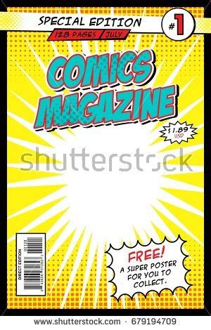 Comic Book Cover Template by Comic Book Cover Template Illustration Editable