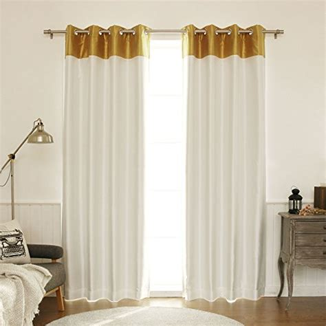 Gold Blackout Curtains Gold Curtains Best Home Fashion Topborder Faux Silk Blackout Curtain Stainless Steel Nickel