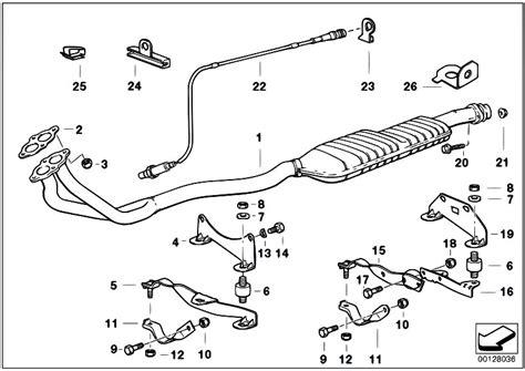 original parts for e36 316i m40 sedan exhaust system
