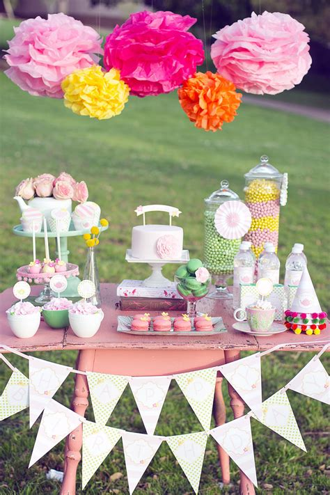 printable garden party decorations printable garden tea party package featured on hostess with