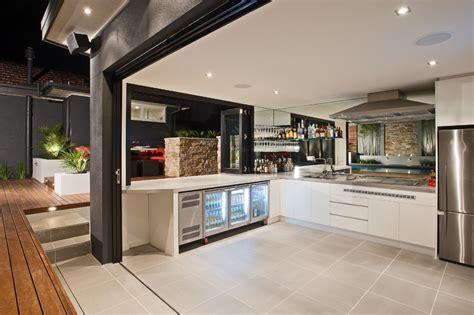 Indoor home bar ideas patio contemporary with outdoor
