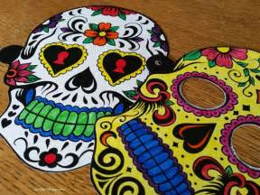 day of the dead skull mask template printable sugar skull masks see craft