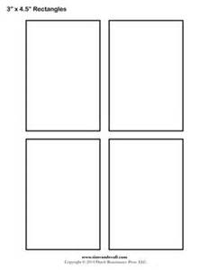 Printable Greeting Cards Rectangle Templates Blank Shape Templates Free