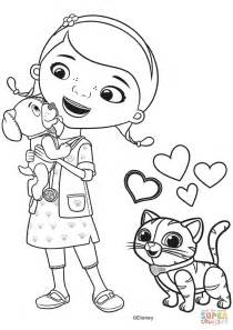 Mcstuffins Coloring Pages doc mcstuffins with findo and whispers coloring page