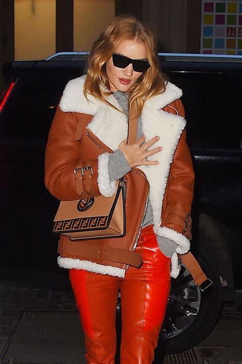 rosie huntington whiteley leather pants rosie huntington whiteley wears an orange leather pants