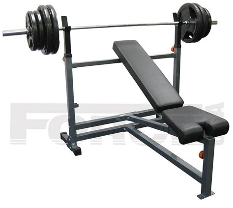 olympic bench press set with weights olympic bench 88kg weights barbell press gym training rubber fid plate force usa ebay