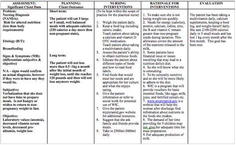 Nursing Teaching Plan Template