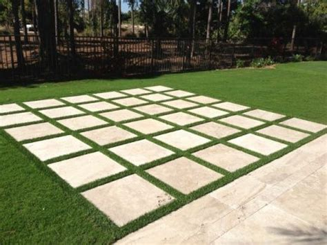 Patio Pavers On Grass I Am So Doing The Paver And Artificial Turf In My Driveway