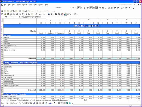 10 Simple Budget Template Excel Exceltemplates Exceltemplates Simple Budget Template Excel