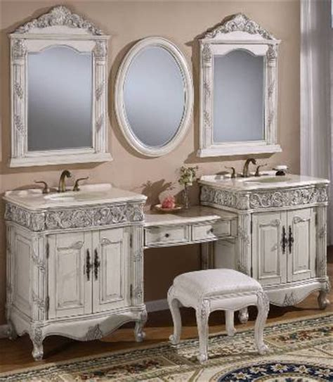 87 Inch Double Vanities   Vanity Make up Stool