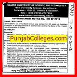 Mba In Islamic Kashmir by Islamic Of Science And Technology Awantipora